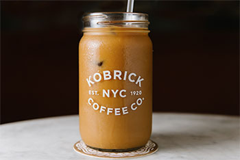 Coffee in Kobrick Mason Jar