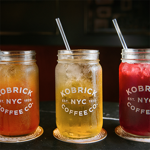 Kobrick Glass Mason Jar with Tea